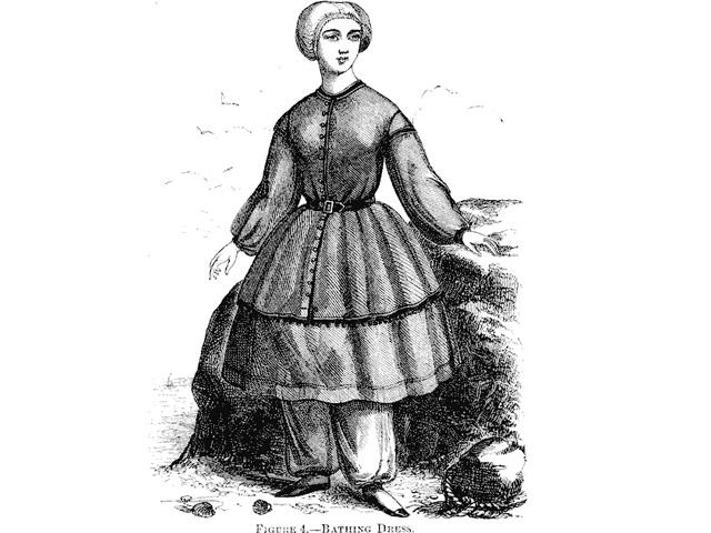 19世紀中頃の女性用水着