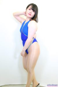 arena 競泳水着 ARN-4504W エールブルー×青葱あおい(1)