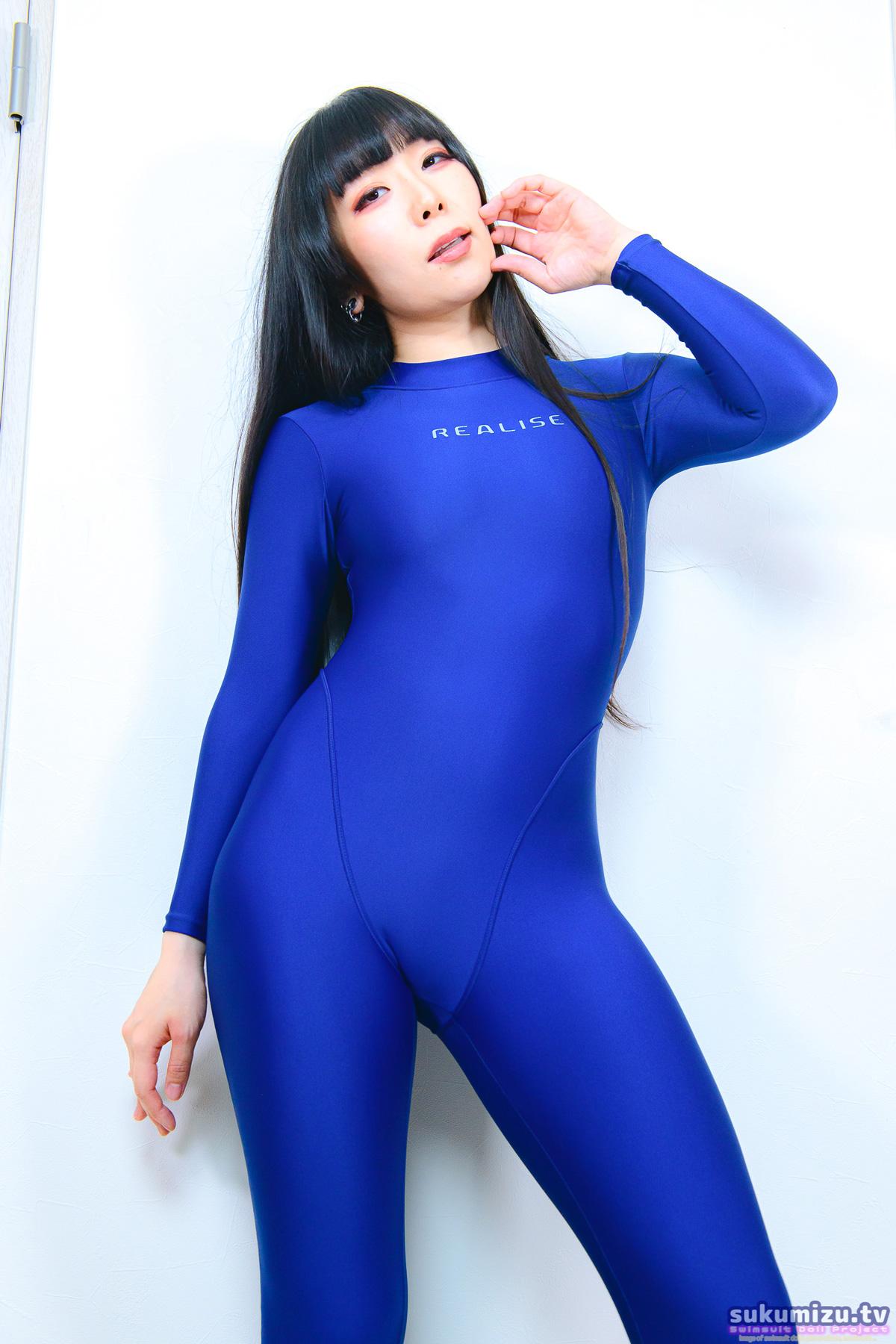 REALISE FB-1/BLUE 2wayキャットスーツ×咲鵺まこ(2)