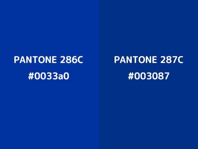 サムライブルーの色番号(推測値)