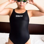 arena 競泳水着 型番不明 X-FLAT×ゴーグル×シリコンキャップ×紺野渚(1)