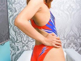 SPEEDO 型番不明 競泳水着×萩原れい(1)