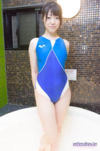 arena ARN-4504W エールブルー 競泳水着×清美奈央(1)